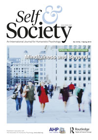 Cover of the latest issue of Self and Society